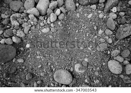 background of stone and sand