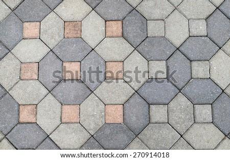 Background of stone floor texture - stock photo