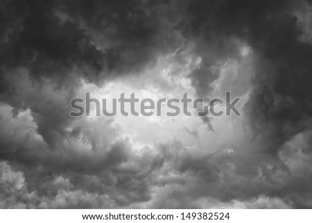 Background of storm clouds - stock photo