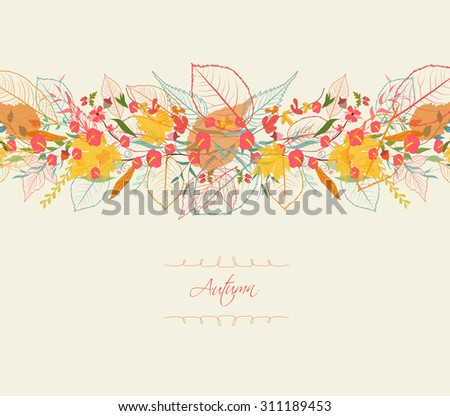 Background of stylized autumn leaves for greeting cards