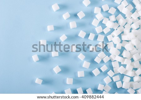 background of sugar cubes - stock photo