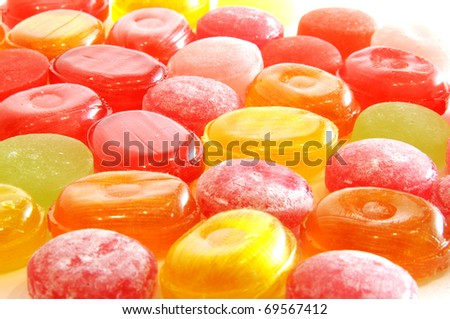 Background of sweets - stock photo