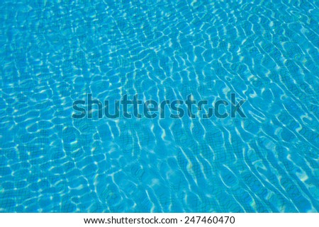 Background of swimming poll surface