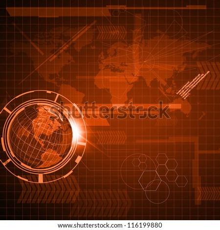 Background of Technology - stock photo
