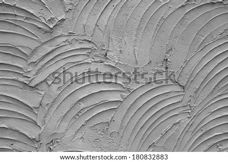 Background of the cement wall is plaster curve rough style