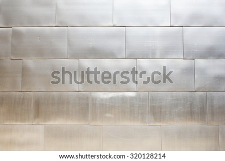 Background of the facade of The Guggenheim Museum in Bilbao, Basque Country, Spain  - stock photo