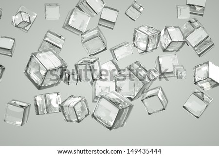 background of the ice cubes, abstract - stock photo