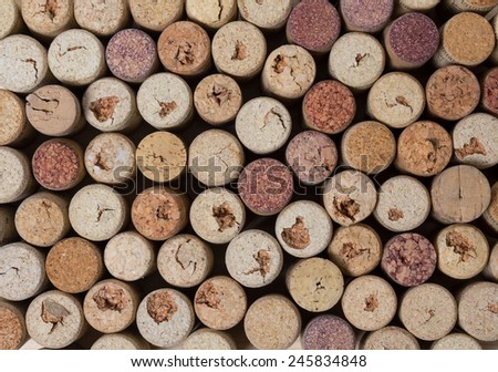 Background of the many corks for wine