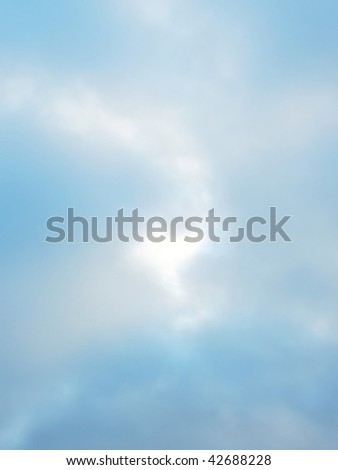 Background of the morning clouds by autumn season.