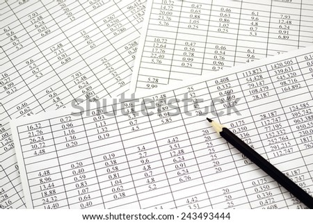 Background of the numbers on sheets  paper  - stock photo