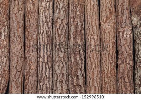 background of the old wooden logs - stock photo