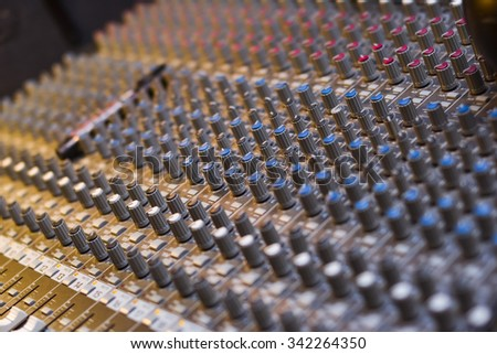 Background of the professional audio musical mixer, Equipment Digital Voice Recorder