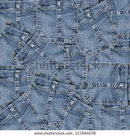 background of the same back blue jeans pockets