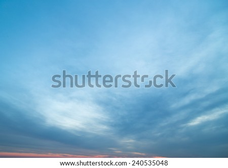 background of the sky at dawn - stock photo