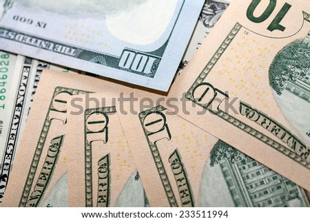 Background of US dollars