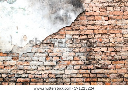 Background of vintage brick wall texture