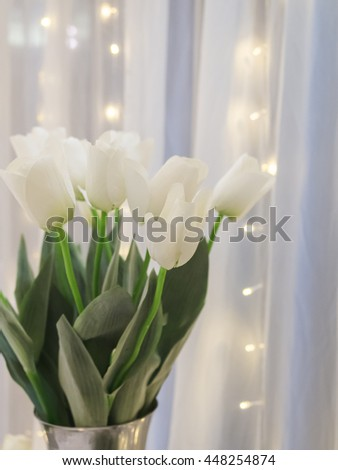 Background of vintage tulips in the wedding