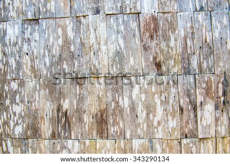 Background of vintage wood wall, Thailand. - stock photo