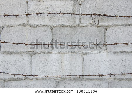 background of wall of bricks with cement  - stock photo