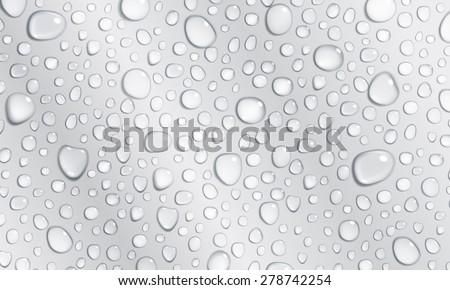 Background of water droplets on the surface in gray colors - stock photo