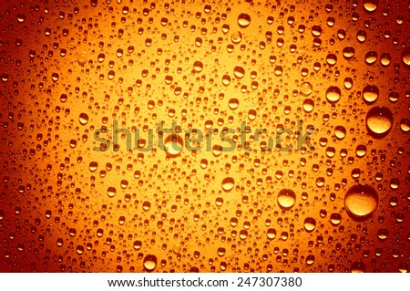 Background of water drops on glass  - stock photo
