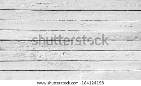 Background of weathered white painted wood - stock photo