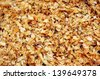 Background of wet sawdust after the chop off of a tree - stock photo