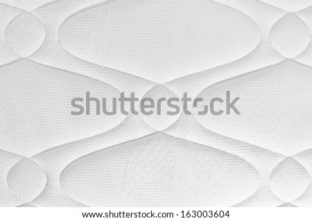 background of white mattress pattern - stock photo