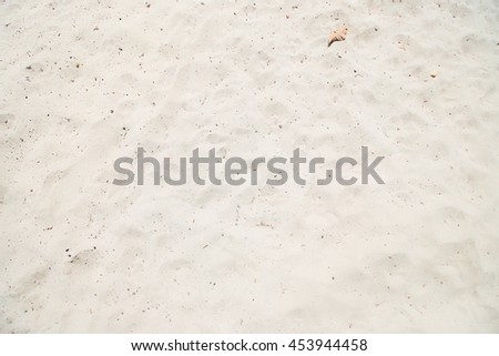 background of white sand on the beach - stock photo