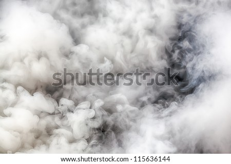 Background of white smoke - stock photo