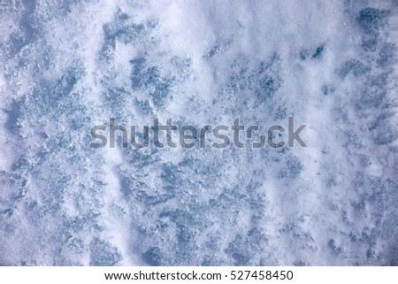 Background of winter ice and snow texture