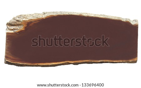 background of wood section. space for print. - stock photo