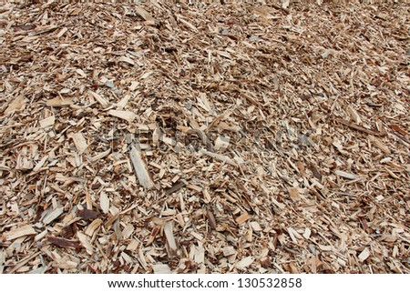 Background of woodchip for biofuel. - stock photo