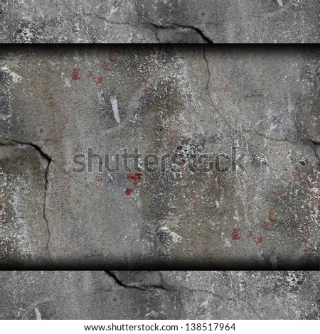 background old concrete wall with cracks texture wallpaper - stock photo