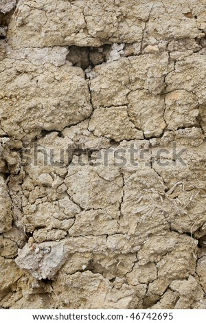 Background old mud wall 01 - stock photo