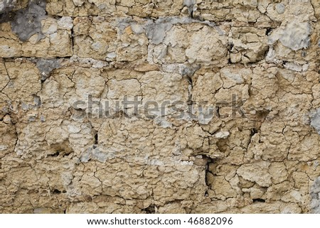 Background old mud wall 02 - stock photo