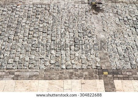 background old paving streets