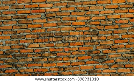 background old rough texture brick wall with light seams