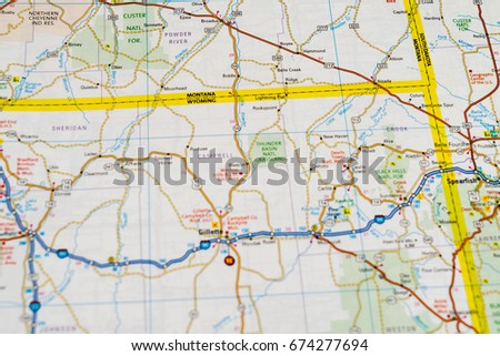 Colorado State Road Map Interstates Us Stock Vector - Us road map background