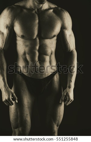 background on muscular male body
