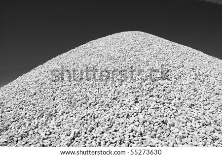 Background or Texture: A gravel pile on a construction job site