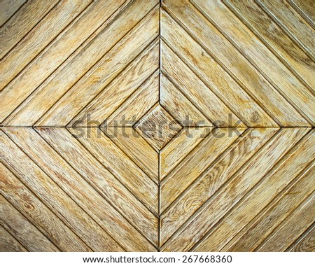 Background or texture of light  parquet with geometric pattern
