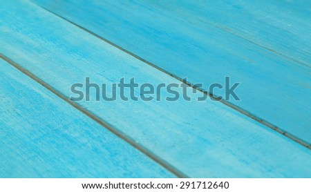 Background or texture of wooden planks painted in blue paint. Blue wood background. Diagonally background image of wooden roofing, there is space for text - stock photo