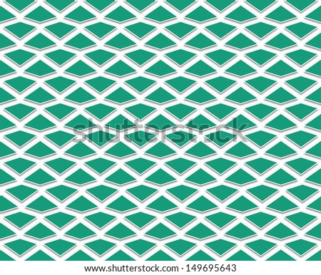 background or texture with regularly spaced polygons of emerald green