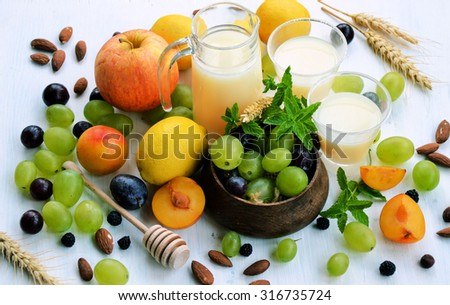 background organic fruit, cooking concept, lifestyle - stock photo