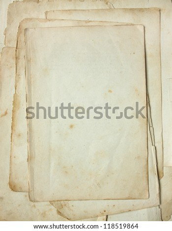 Background page of beige vintage paper  close up. - stock photo