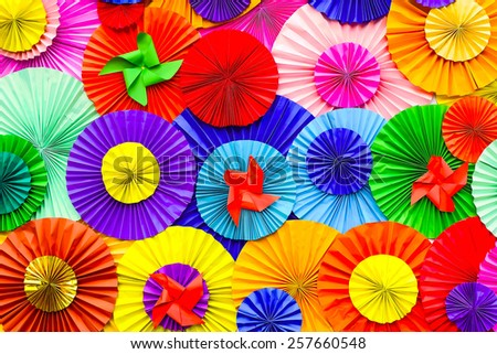Background,paper with colorful circle - stock photo