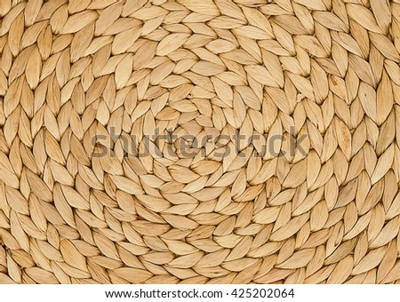 Background Pattern, Brown Handicraft Weave Texture Wicker Surface for Furniture Material. - stock photo