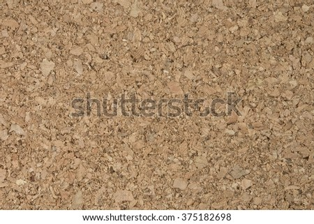 Background Pattern, Horizontal Brown Cork Board Texture with Copy Space for Text Decorated. - stock photo