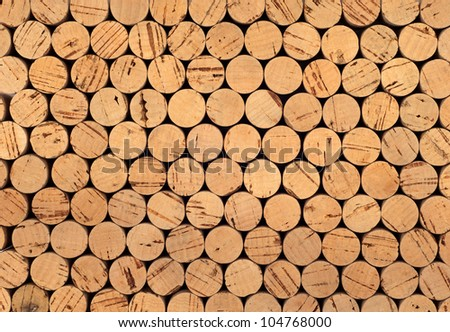 Background pattern of wine bottles corks - stock photo